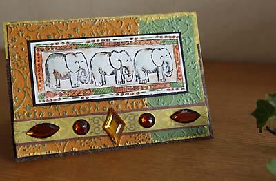 マジェンタ インド象カード