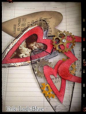 Valentine Tag Book  Inside